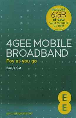 EE 4G Mobile Broadband Pay as you go includes 6GB of data combi sim