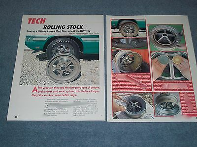"""1967 Shelby Mag Star Wheel DIY Resto Article """"Rolling Stock"""" Kelsey-Hayes"""