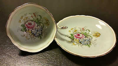 Paragon Tea Cup Pink Rose Flowers Floral Bouquet Double Warrant