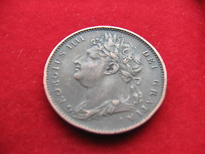 Nice Garde King George Iv 1822 Copper Farthing Collectable Free Uk Post