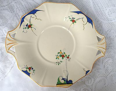 H & K Tunstall Art Deco Two cut out Handled dish # 1642 (100)