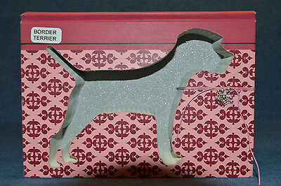Border Terrier Upcycled Book - 003