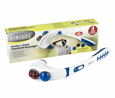 Homedics Therapy Contour Point Handheld Portable Heated Massager HHP-150T-EU