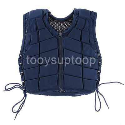 Horse Riding Vest Waistcoat Safety Equestrian Body Protector Protective Navy