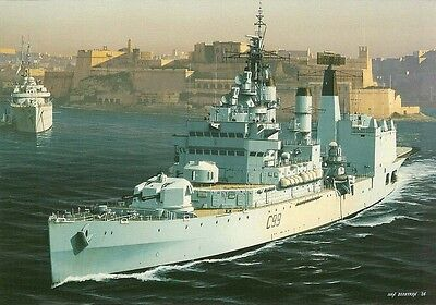 (b04) HMS Blake leaves Grand Harbour Malta PC