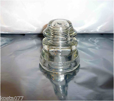 Antique / Vintage Clear Glass Dome Insulator, Hemingray - 45