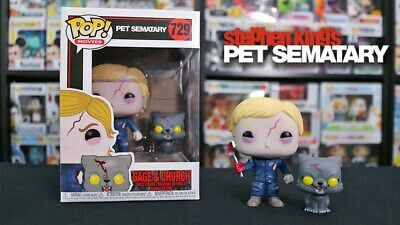 Funko POP! and Buddy: Pet Sematary - Undead Gage and Church Mint in Box In Hand