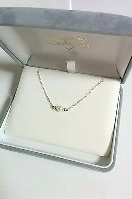 Mikimoto Akoya Pearl Sterling silver Pendant  Necklace