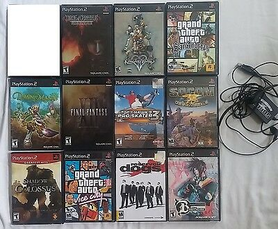 Huge Lot of 11 PS2 Games including 5 RPGs Final Fantasy Secret of Mana and more
