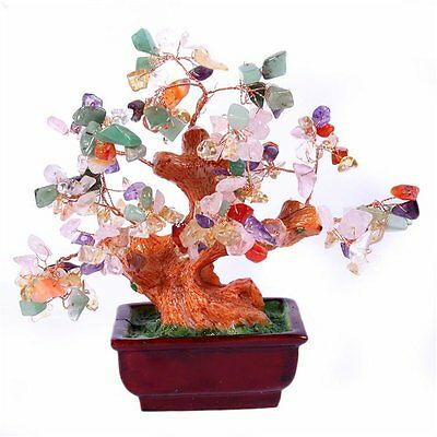 Feng Shui Natural Colourful Crystal Money Tree V1029