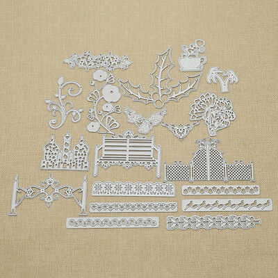 Cutting Dies Stencil Hand Craft DIY Scrapbook Album Diary Paper Card Rose Tree