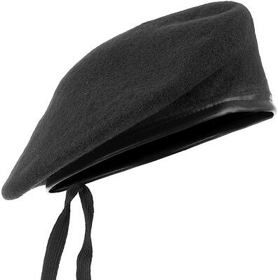 b9d16d00fc543 Army Style Tactical Beret Classic Military Unisex Hat Mens Patrol Cap Wool  Black