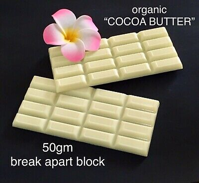 "😋~50gm ORGANIC ""COCOA BUTTER"" BREAK APART BLOCK~D.I.Y SOAPS/LOTION BARS/BALMS"