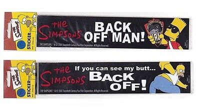 The Simpsons: Bart Simpson & Homer Simpson Back Off Sticker Set