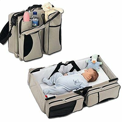 Baby Diaper Tote Bag Travel Bassinet Change Station Bed Nappy Infant Carrycot