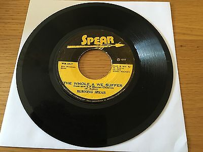 """Burning Spear - The Whole We A Suffer - 1977 Ja 7"""" Lots More Roots Reggae Look!!"""