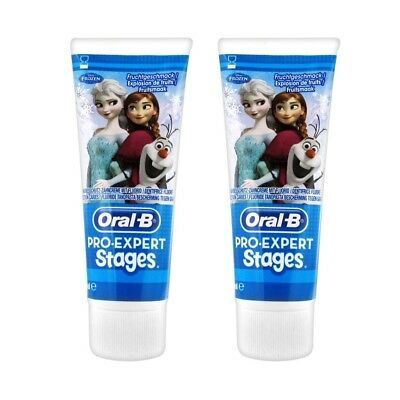 Lot Promo 2X 75Ml Oral-B Dentifrice Enfants La Reine Des Neiges Disney®