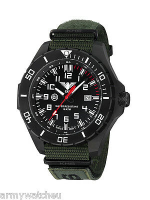 KHS Tactical Watches Infantry Men's Military Watch Analog Army XTAC Band Oliv