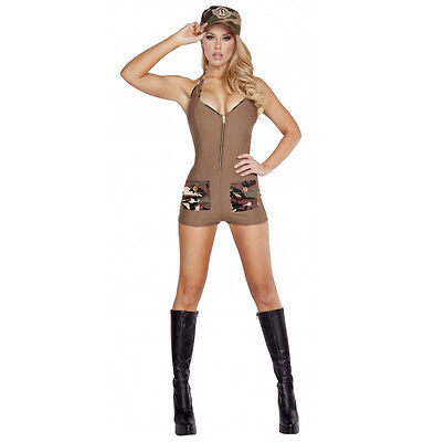 Roma Camo Sultry Soldier Army Military Combat Romper Costume 4590