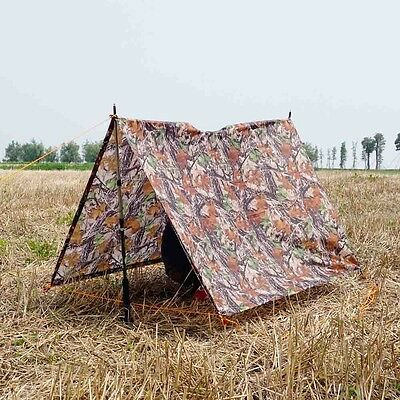 Travel Camouflage Raincoat Poncho Backpack Rain Cover Waterproof Tent Mat Awning