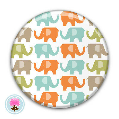 Personalised ELEPHANT Compact/Handbag Pocket Mirror (58mm) Gift / Wedding Favour