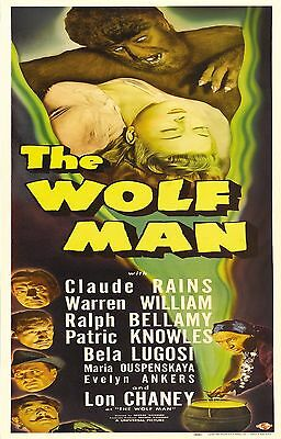 The Wolf Man 1941 Fantasy/Drama Classic Movie POSTER