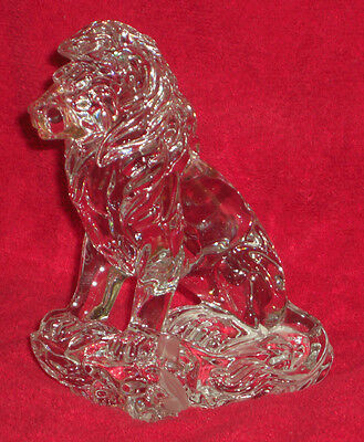 Lenox Fine Crystal Germany sitting Lion 4 lbs 5 oz in perfect condition sweet