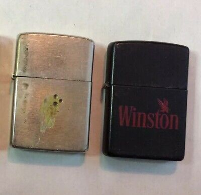 lot of 3 vintage ZIPPO LIGHTERS HOOTERS WINSTON
