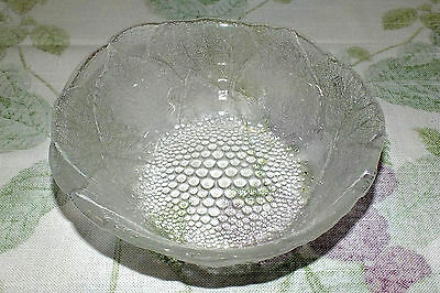 MIKASA HOYA DEWDROPS SET OF 4 SALAD SOUP BOWLS  embossed leaves dots  ALL EXC