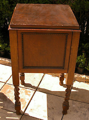 Vintage Handmade Wooden Interior Upholstered Large Table Sewing Box