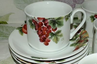 ROYAL DOULTON EVERYDAY JAPAN  VINTAGE GRAPE CUP SAUCER SET price for one  EXC