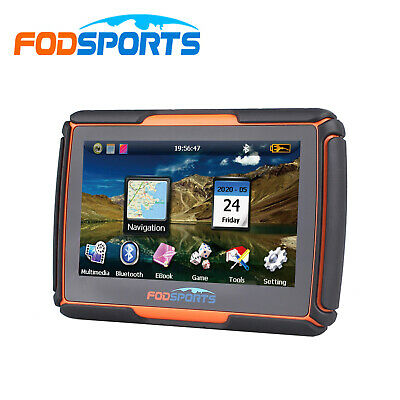 """4.3"""" Bluetooth Motorcycle GPS Navigation 8GB Waterproof IPX7 Touch Screen+Maps"""