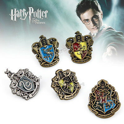 Movie Harry Potter Hogwarts House Metall Pin Badge Set of 5 pcs for Gift