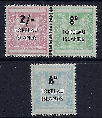 1966 Tokelau Surcharges On Arms Set Of 3 Fine Mint Mnh/muh