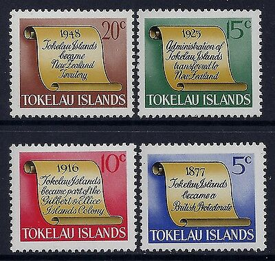 1969 Tokelau Historical Events Set Of 4 Fine Mint Mnh/muh