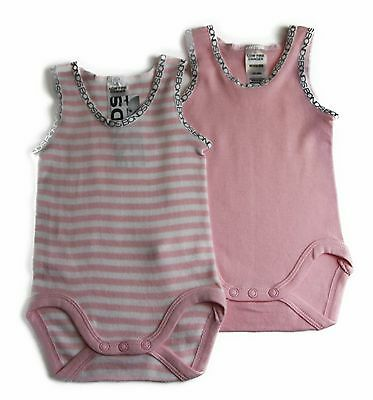 NWT Bonds Singletsuit Baby Girl Girls Jumpsuit Stripes Size 0000 000 00 0 1