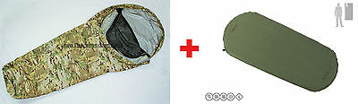 Multicam Tactical Bivy Bag Shelter + Multimat Self Inflating Sleeping Mat Combo