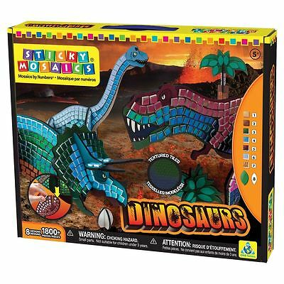 Orb Factory Sticky Mosaics for Kids - 3D Dinosaurs
