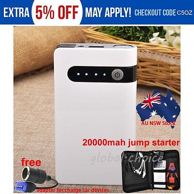 20000mAh Mini Auto Emergency Car Jump Starter Power Bank Battery Charger Booster
