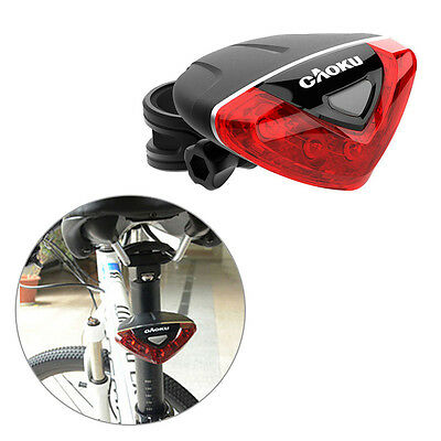 5 LED Bike Bicycle Cycling Safety Rear Back Tail Red Flash Light Caution Lamp