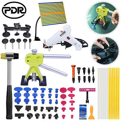 PDR Tool Paintless Dent Removal Kit Gold Dent Lifter Line Board Dent Hammer Set