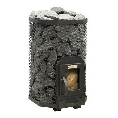 SAUNA Wood Burning Stove Square 13 for 6 - 13m3 steam room 15,4kW Without stones