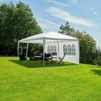 3 X 6M White Gazebo Marquee Party Tent Outdoor Garden Canopy Wedding Awning Wido