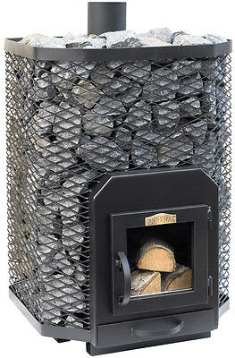 SAUNA Wood Burning Stove Square 24 for 16-24m3 steam room 22,6kW Without stones