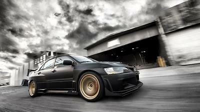 MITSUBISHI SUNSET Photo Picture Poster Print Art A0 to A4 CAR POSTER AB236