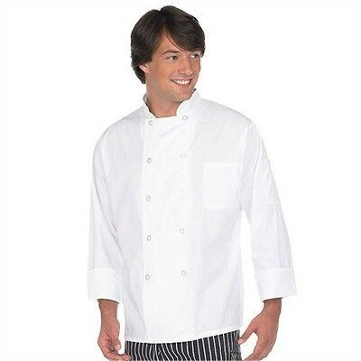Professional Chef Coat White New Double Button 10 Button Culinary Top