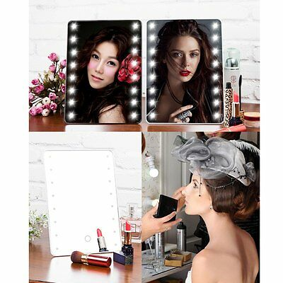 16LED Touch Screen Adjustable Tabletop LED Lighted Cosmetic Vanity Makeup Mirror