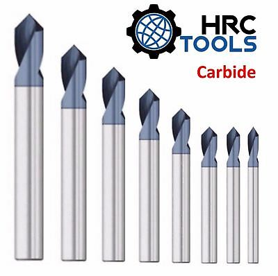 HRC Tools Solid Carbide NC Spot Drill 90° Degrees TiALN Coated Spotting Point