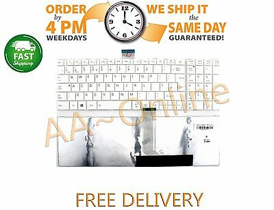 NEW Toshiba Satellite C50 C50D C50-A L50 C55 UK White Keyboard With Frame