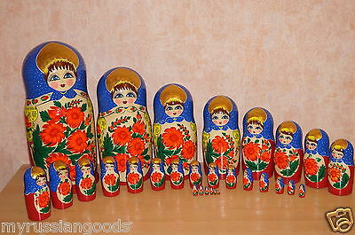 Russian Doll Nesting Doll  30 Pc Big Size No Reserve Matryoshka Babushka